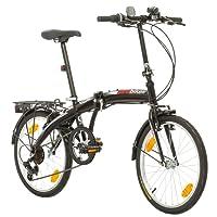 Multibrand Probike Folding System Mountain Folding Bike City Bike, Man, Woman, Child One Size Fits All 6speed gears Shimano Derailleur Gears, Folding System, Traffic Light, fully assembled, Green