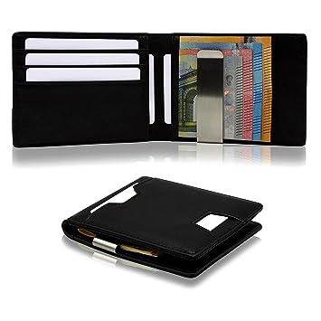ab3930a1029e6 RESOR Geldbörse Herren klein mit Münzfach - Kartenetui mit Geldklammer    RFID Schutz - Portemonnaie Herren