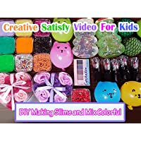 Clip: Creative Satisfy Video for Kids - DIY Making Slime and Mix Colorful