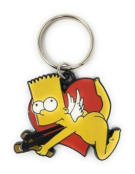 Los Simpsons Bart Cupido Slingshot esmalte llavero de metal ...