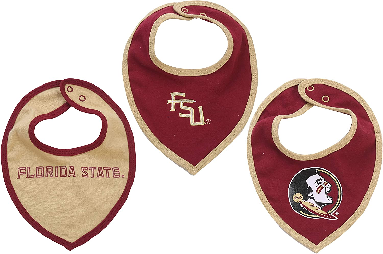 2 Pack Florida State Seminoles Team Logo Baby Bibs
