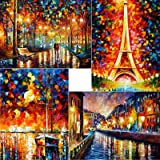 ARTDOT 5D DIY Diamond Painting Kits for Adults 4 Pack Full Drill Diamond Art Craft Canvas Supply for Adults, Beginners…