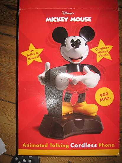8215fc755beb81 Amazon.com : TELEMANIA 025288 900 MHz Mickey Mickey Mouse Animated Cordless  Telephone : Office Products