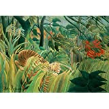Henri Rousseau: Tiger in a Tropical Storm. Fine Art Print/Poster. Size A2 (59.4cm x 42cm)