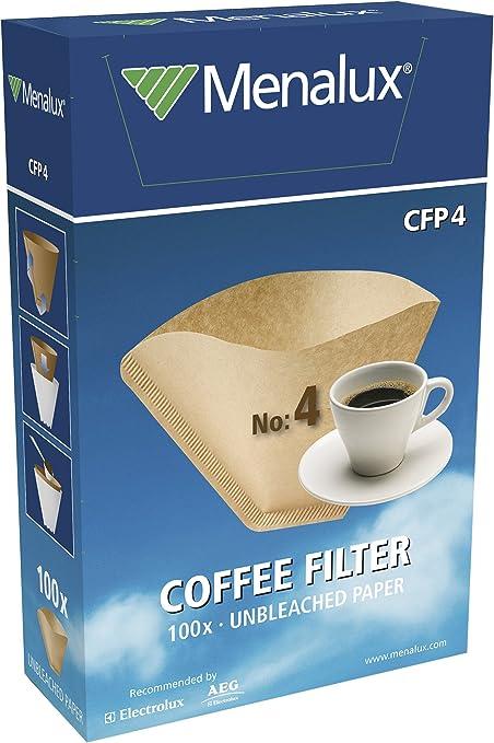 Menalux CFP4 – Filtro 1x4 para cafeteras de goteo, Papel: Amazon.es: Hogar