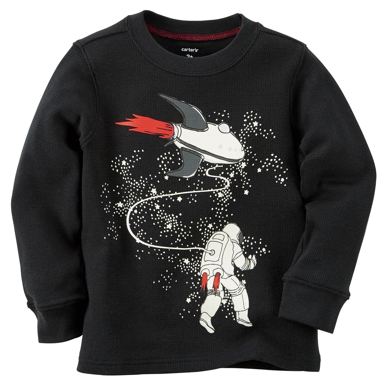 【一部予約販売】 カーターズ (72-78cm) トップス Carter's 保温 トップス Tシャツ 長袖 100% 100% 綿 サーマル 秋冬 Glow-In-The-Dark Astronaut Thermal 12M (72-78cm) [並行輸入品] 12M (72-78cm) Black B013R4V7BG, 七五三 着物 浴衣 京都室町st.:6c3dee62 --- a0267596.xsph.ru