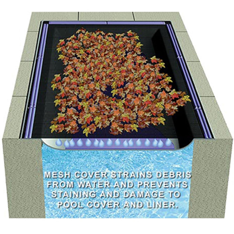 amazon com rectangle swimming pool leaf net cover 12 feet x 24