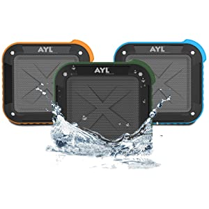 Portable Outdoor and Shower Bluetooth 4.0 Speaker by AYL SoundFit, Waterproof, Wireless
