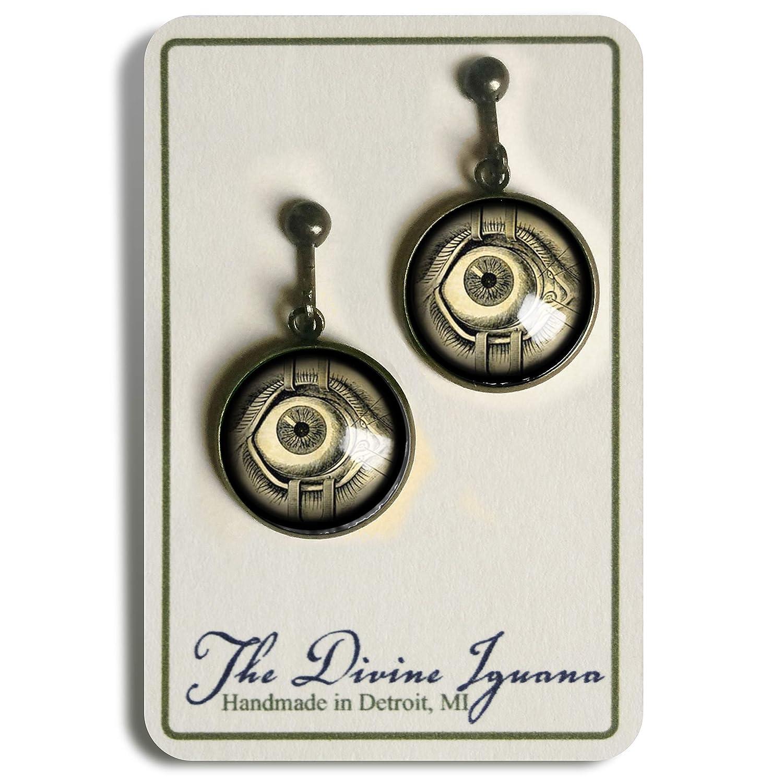 Eye Surgery Victorian Medical Illustration Clip on Earrings