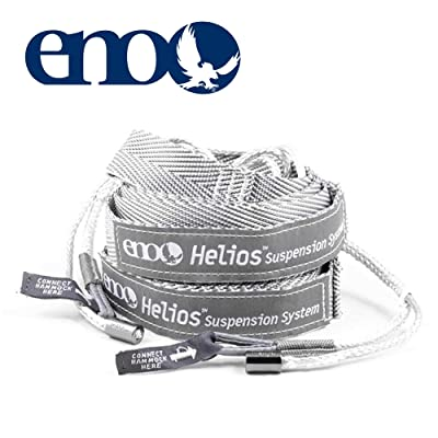 "ENO - Eagles Nest Outfitters Helios Ultralight Hammock Straps Suspension System with Storage Bag, 300 LB Capacity, 8' 1"" x 1"": Sports & Outdoors"