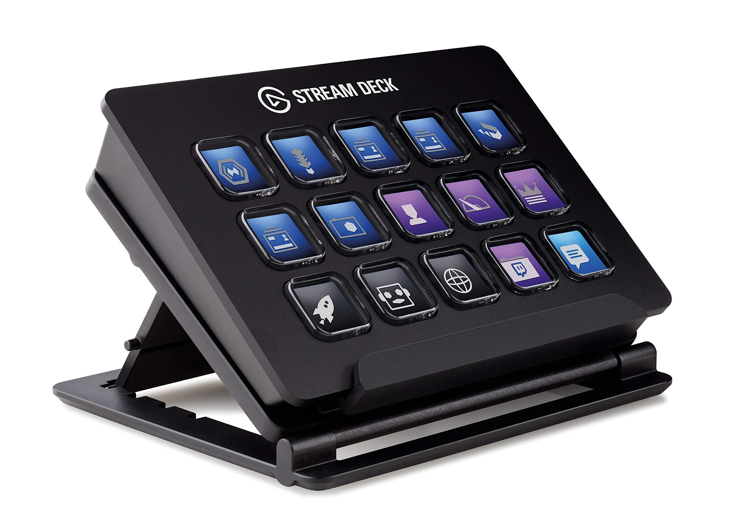 Elgato Stream Deck - Live Content Creation Controller with 15 Customizable LCD Keys, Adjustable Stand, for Windows 10 and macOS 10.11 or Later (Renewed)