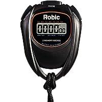 Robic fácil de Usar, Alta precisión cronómetro Resistente al Agua 2 cronómetro de Memoria, Negro