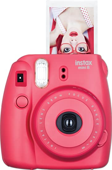 Amazon.com: Fujifilm Instax Mini 8 Instant Film Camera (Raspberry ...