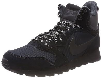 best service ab167 4a10e Nike WMNS MD Runner 2 Mid Prem, Baskets Hautes Femme, Noir, 37.5 EU