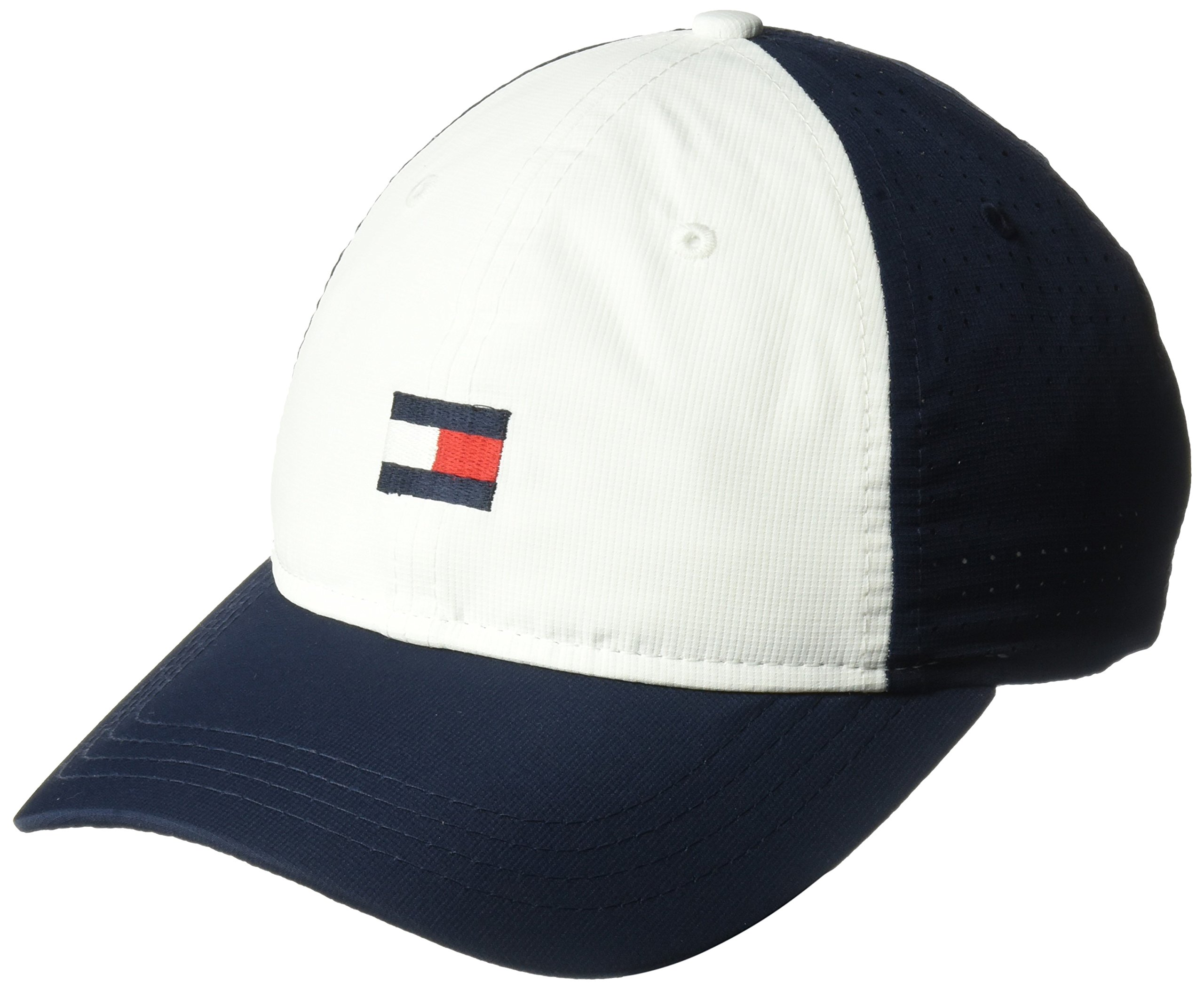 Tommy Hilfiger Men's Dad Hat Flag Golf Cap, Multi/Classic White/Navy Blazer, O/S