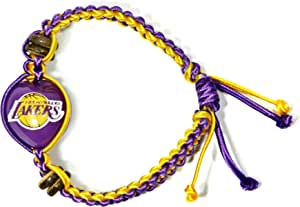 NBA Los Angeles Lakers Go Nuts Kukui Nut Macrame Bracelet
