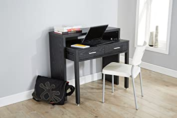 Home source black desk extending console table home office