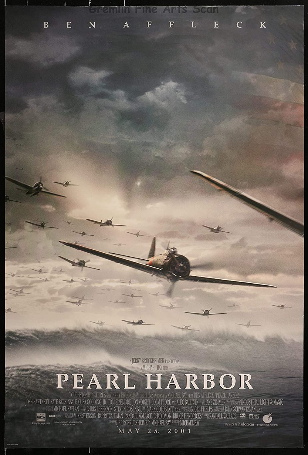 Pearl Harbor 2001 Theatrical Movie Poster Directed By Michael Bay Starring Ben Affleck Kate Beckinsale And Josh Harnett At Amazon S Entertainment Collectibles Store