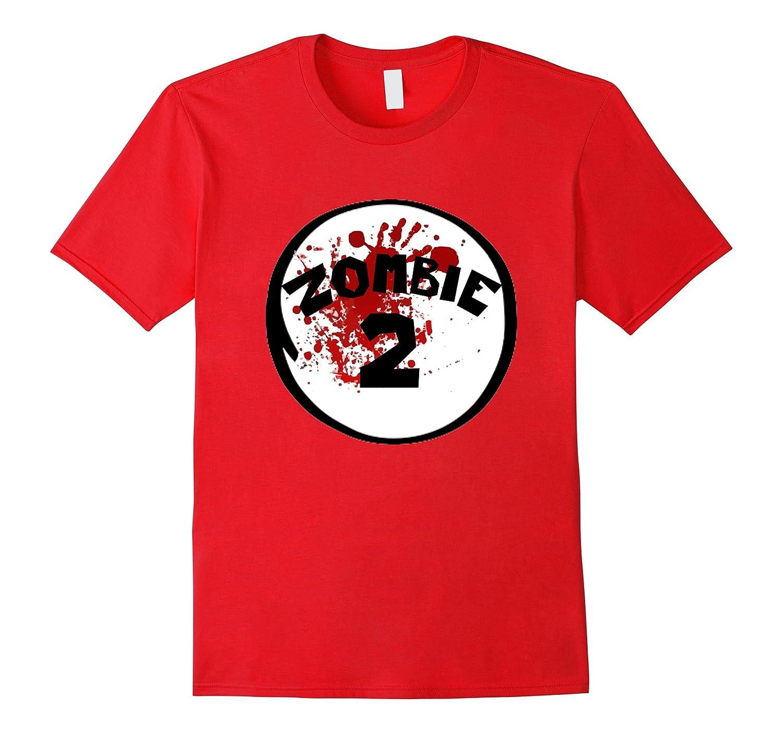 Zombie 2 1 Shirt - Funny Couples Family Halloween T-shirt-BN