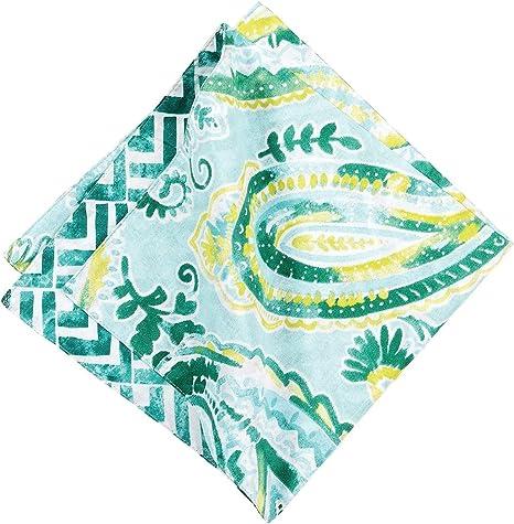Amazon Com C F Home Jade Coastal Paisley Cotton Napkin Set Of 6 Napkin Set Of 6 Blue Home Kitchen