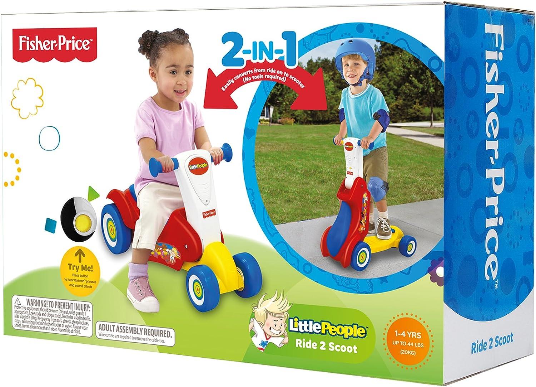 Amazon.com: Fisher-Price Little People Ride 2 Scoot 2-en-1 ...