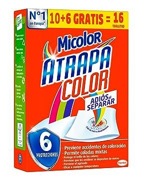 Micolor Toallitas Atrapa Color - 16 Lavados: Amazon.es: Salud y cuidado personal