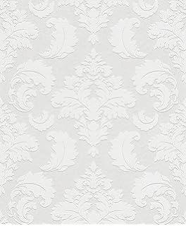 Vliestapete weiß silber  White Light 1715 Metallic Vlies-Tapete Orient orientalische ...