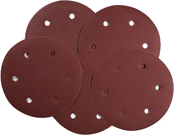 17-inch 600-grit sandpaper for 5-piece orbital sander 6-hole hook and loop sanding discs