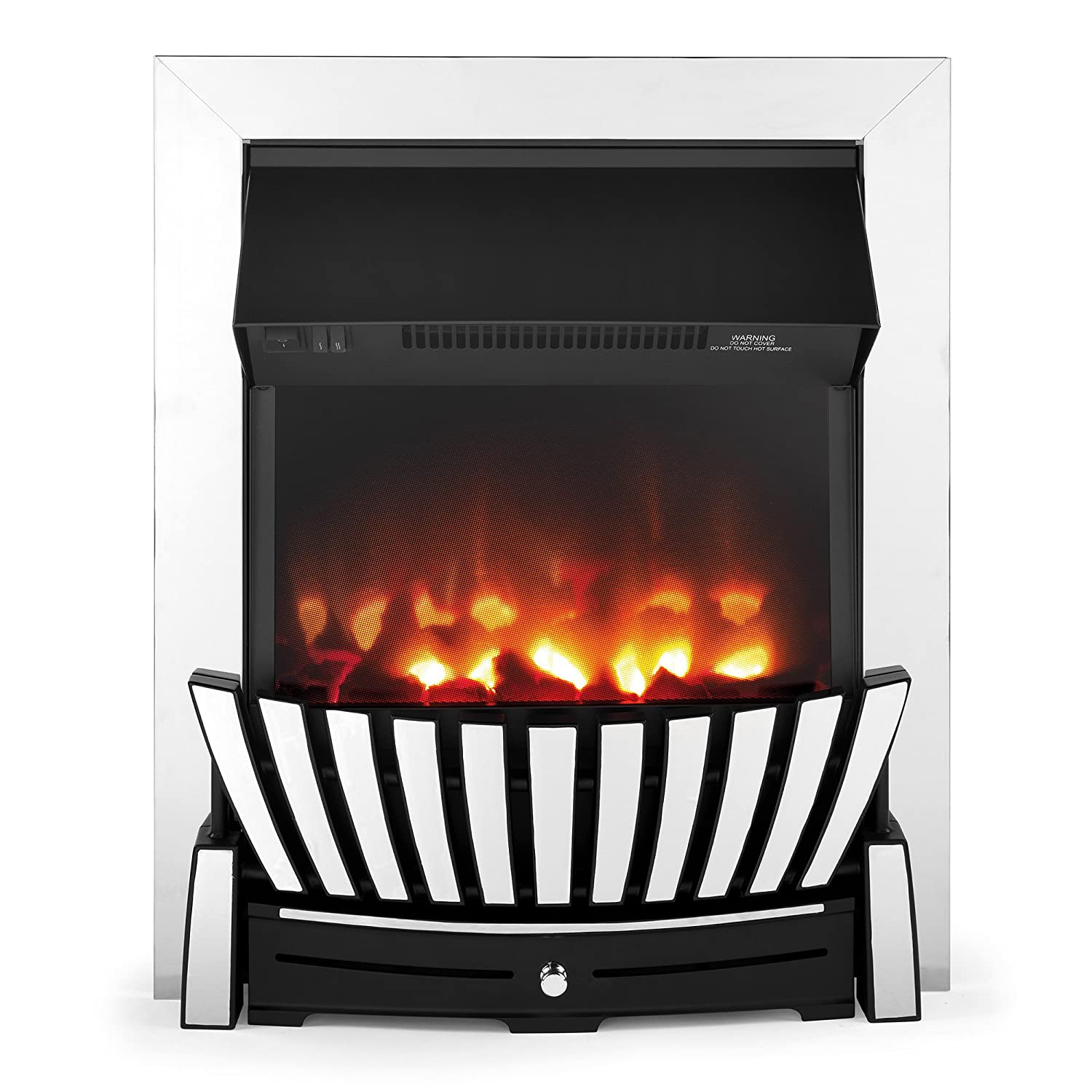 Beldray EH2350 Almada Inset and Free Standing Electric Fire, 2000 W, Black EH2350STK