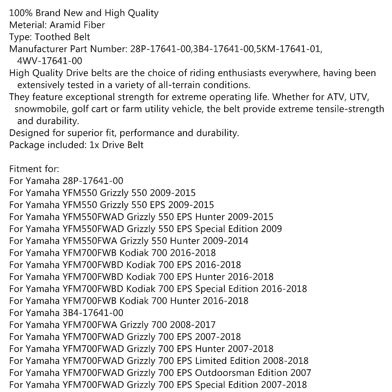 Correa de transmisi/ón para Yamaha Grizzly 550 660 Kodiak 700 EPS Hunter Benn-che Areyourshop 28P-17641-00
