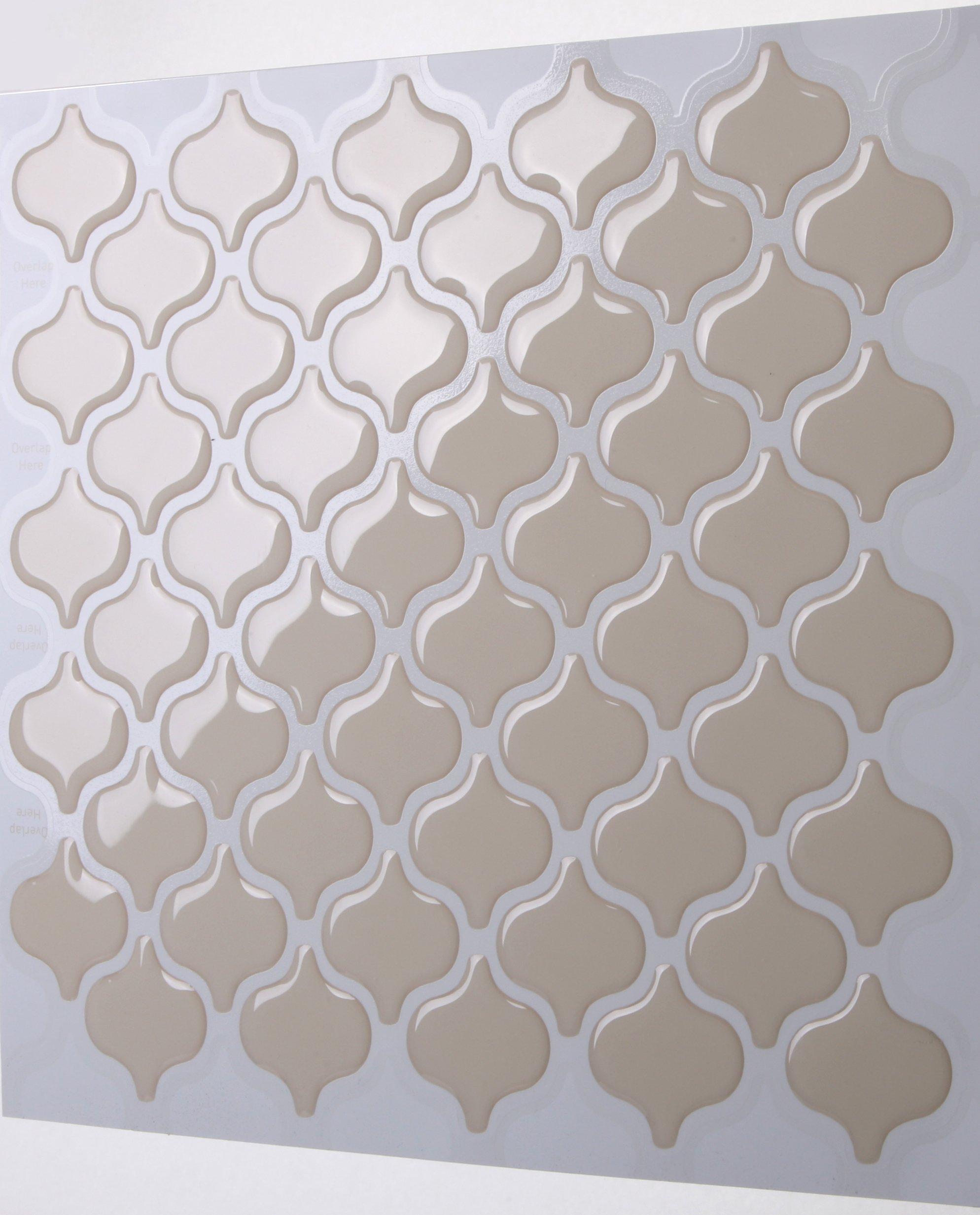 Tic Tac Tiles 5-Sheet Peel And Stick Self Adhesive