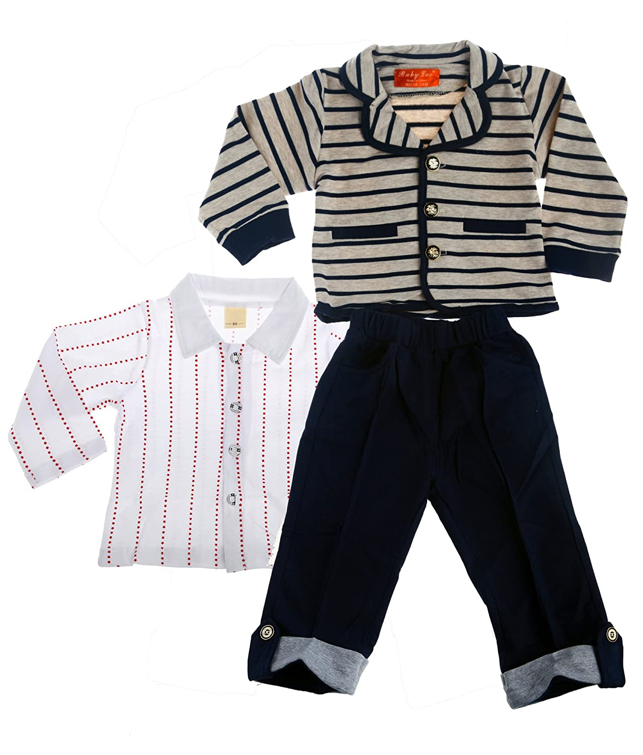 Baby Leonardo Little Boys 3pcs Long Sleeve Clothing Sets Outfit