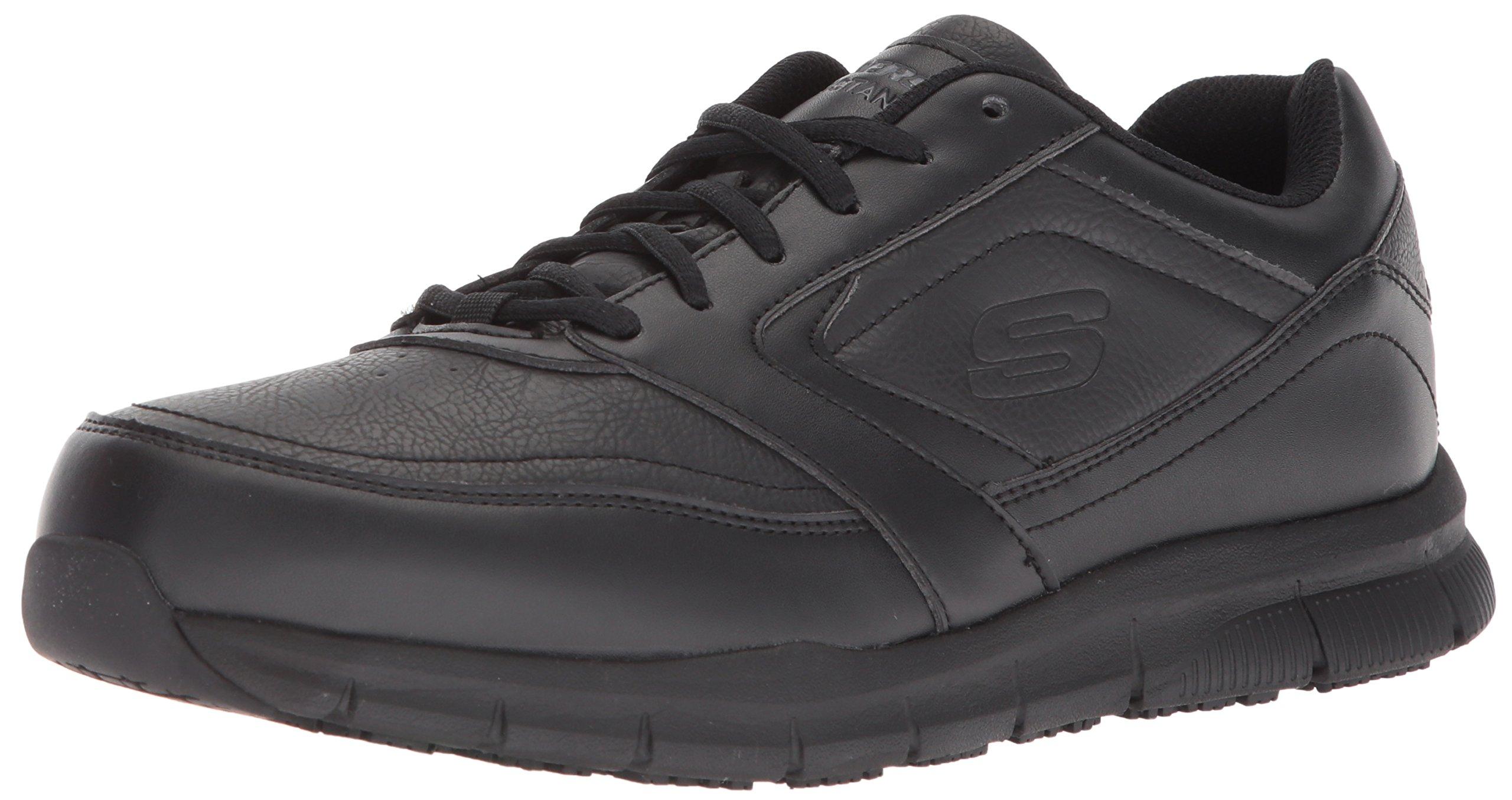 Skechers for Work Men's Nampa Food Service Shoe,Black Polyurethane,11 M US by Skechers