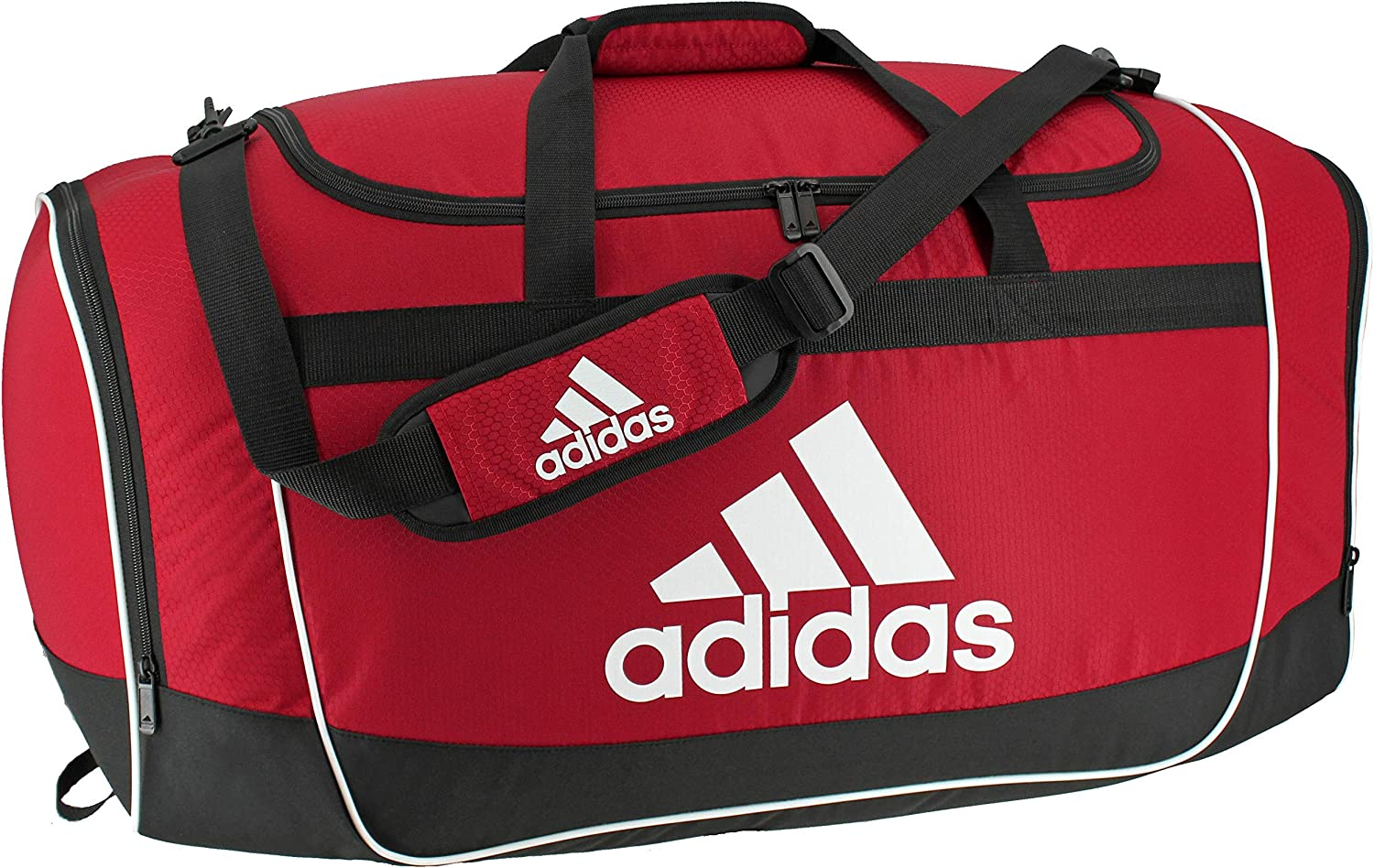 adidas Unisex Defender II Medium Duffel Bag, Power Red, ONE SIZE