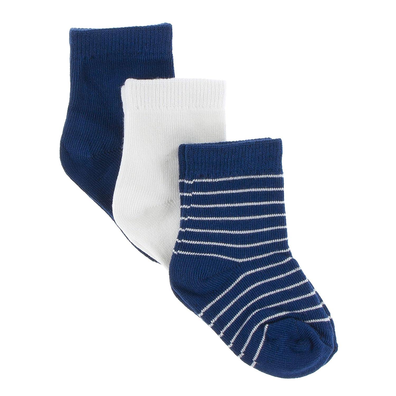 Kickee Pants Sock Set of 3 Navy Tokyo Navy Stripe Natural