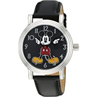 Disney Women's 'Mickey Mouse' Quartz Metal Automatic Watch, Color:Black (Model: W002757)