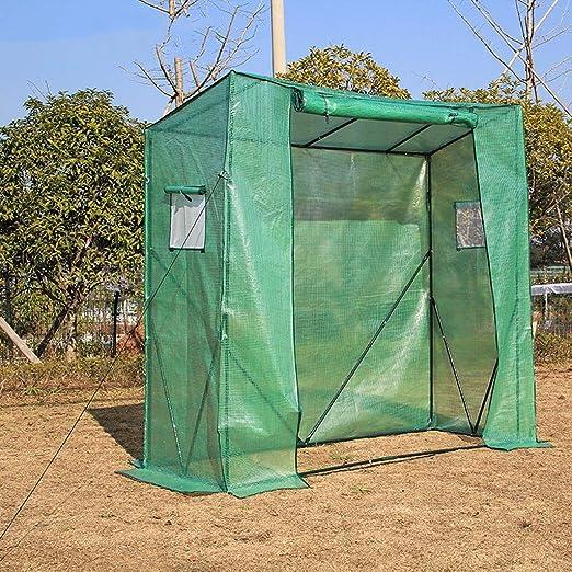 XY&CF-Flower house Invernadero jardín PE Tela de Malla Acero Inoxidable Soporte Planta Invernadero (200 * 77 * 200 cm): Amazon.es: Hogar