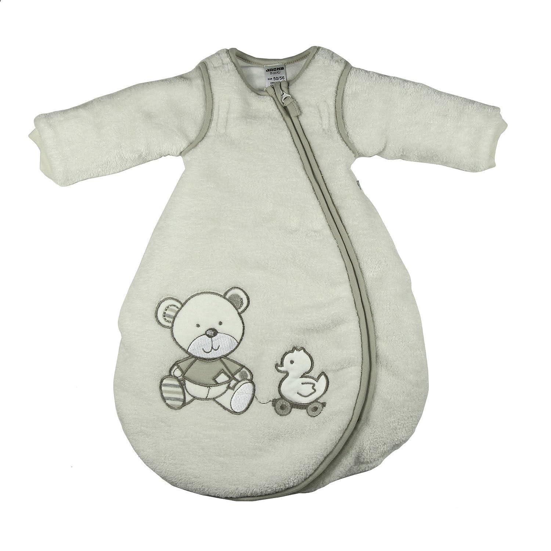 Jacky Mädchen und Jungen Winter Schlafsack mit abnehmbaren ärmeln, Teddy, Beige, Größe: 50/56, 322501-99 Größe: 50/56 Jacky_4001742576958