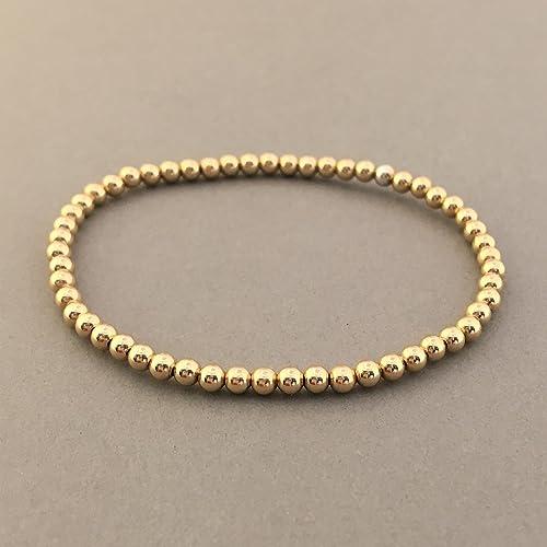 3a206f82d48 Amazon.com: Gold Fill Beaded Ball Bracelet: Handmade