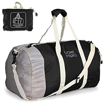 Travel Inspira 40L Foldable Duffle Bag Lightweight Luggage For Sports Gym Holiday