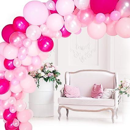 Amazon.com: Kit de guirnalda de globos, globos rosas y ...