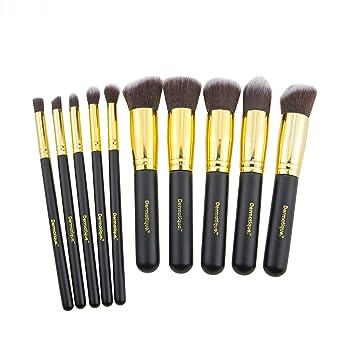 Amazon.com : Dermatique Gold Makeup Brush Set, Beauty Blending ...