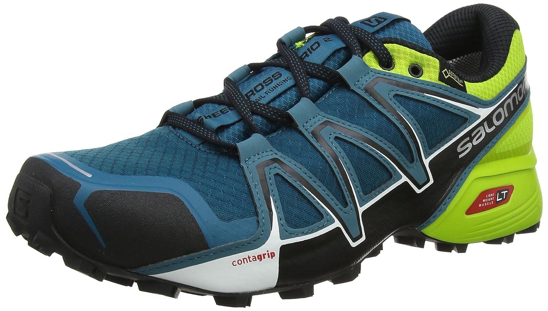 Salomon Speedcross Vario 2 GTX, Calzado de Trail Running para Hombre 48 EU|Azul (Deep Lagoon/Black/Lime Green)