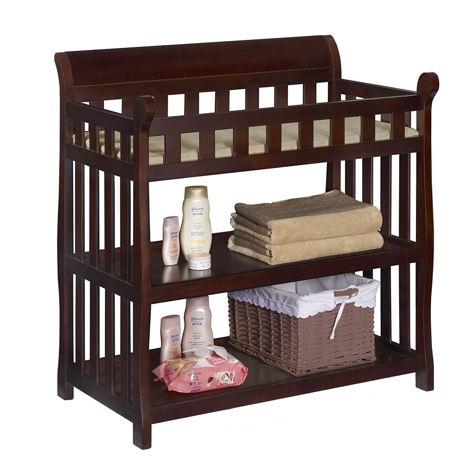 Exceptionnel Amazon.com : Delta Children Eclipse Changing Table, Vintage Espresso : Baby