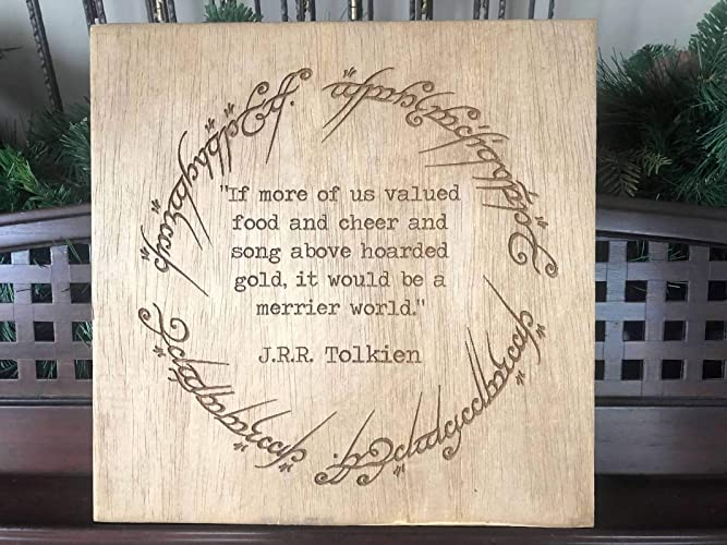 Lord Of The Rings Ring Quote | Amazon Com Lord Of The Rings J R R Tolkien Quote Engraved Plaque