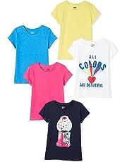 084575431f9ac Spotted Zebra Girls  5-Pack Short-Sleeve T-Shirts