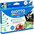 Giotto 4533 00 Decor Materials- Rotuladores para textil (6 colores)