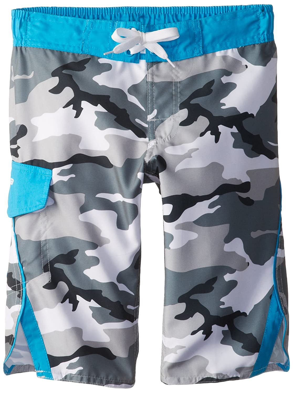 Laguna Big Boys Shocking Camo Boardshort Grey//Hawaiian Ocean 18//20 Laguna Boys 8-20