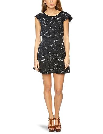 57ee0ec8e1e Ruby Rocks RR634 Quirky Prints Sleeveless Women s Dress Black White ...