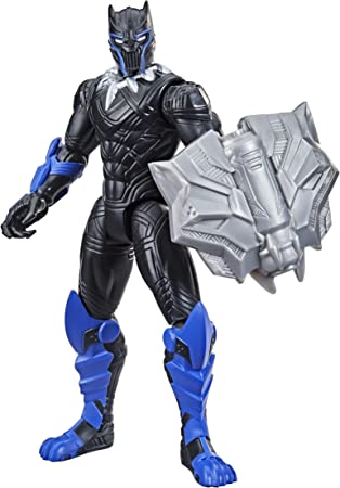 Avengers Hasbro Marvel Mech Strike 6-inch Scale Action Figure Toy Black Panther with Compatible Mech Battle Accessory, for Kids Ages 4 and Up